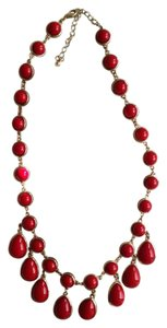 Charming Charlie Red Drop Necklace