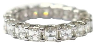 Other Fine,Asscher,Cut,Diamond,Eternity,Ring,4.75ct,White,Gold,14kt,Sz8.5