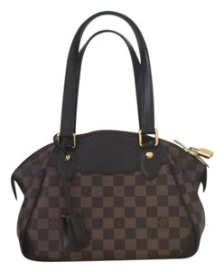 Louis Vuitton Damier Ebene Verona Satchel in brown
