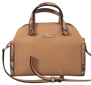 Kate Spade Satchel in Tan And Snake