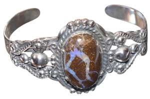 Other Vintage Sterling Silver Bracelet wiht a huge Boulder Opal gemstone