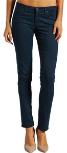 AG Adriano Goldschmied Navy Teal Pants Skinny Jeans-Dark Rinse