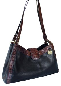 Brahmin Croc Two-tone Tuscan Melbourne Vintage Shoulder Bag