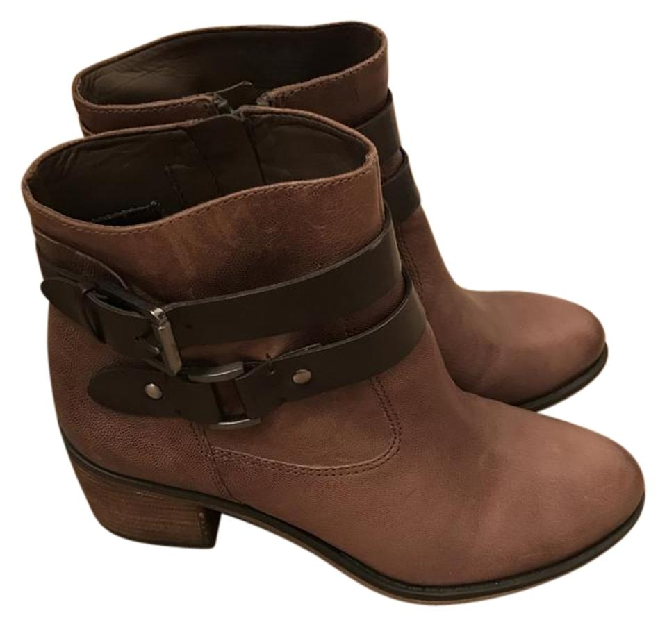 Franco Sarto Brown Women's 8) Linden Style Tobacco Leather Ankle 8) Women's Boots/Booties 16f68d