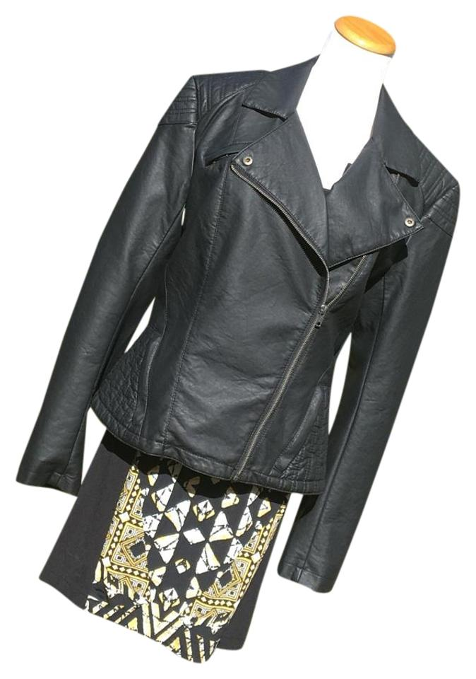 4c9b03125cd6 French Connection Black Roller Girl Pu Moto Jacket Size 8 (M) - Tradesy