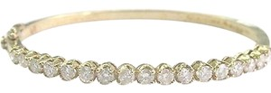 Fine,Round,Cut,Diamond,Yellow,Gold,17-stone,Bangle,2.55ct,