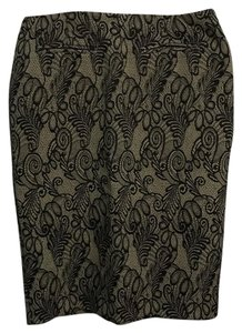 S&D Skirt Black lace over cream