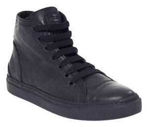 ANINE BING Leather High Top BLACK Athletic