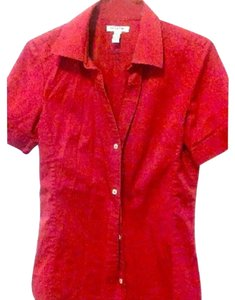 Banana Republic Button Down Shirt Red