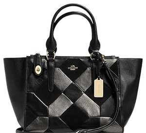 Coach F36531 Crosby Carryall Black Cross Body Bag