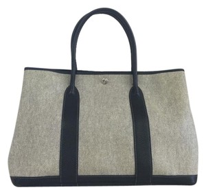 Hermès Garden Party Mm Tote in LightGrey