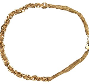 St. John St. John gold plated clasped necklace