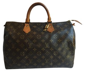 Louis Vuitton Speedy Speedy Speedy 35 Monogram Satchel in Brown
