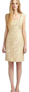 Tory Burch Tweed Gold Sheath Sparkle Dress