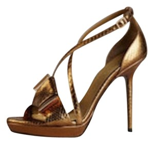 Burberry Prorsum Python Burberry Burberry Gold Sandals