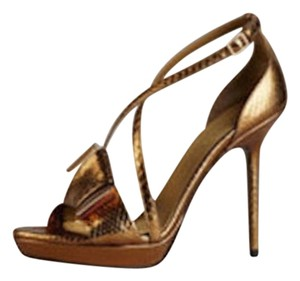 Burberry Prorsum Gold Sandals