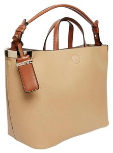 River Island Faux Leather Large Tote 2 Bags In 1 Satchel in Tan