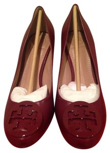 Tory Burch Burgundy Wedges