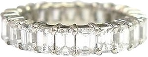 Fine,Emerald,Cut,Diamond,Shared,Prong,Eternity,Band,Ring,Wg,5.00ct,Sz7.5