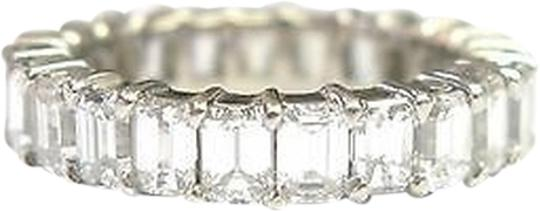 Other Fine,Emerald,Cut,Diamond,Shared,Prong,Eternity,Band,Ring,Wg,5.00ct,Sz7.5