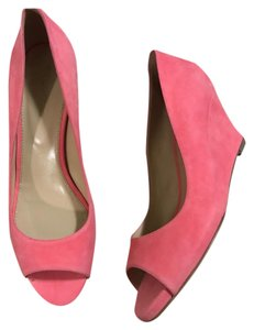 Sergio Rossi Coral Pink Wedges