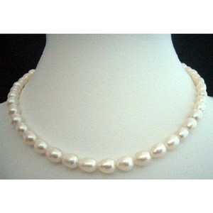 Fashion Jewelry For Everyone White Freshwater Pearls Necklaces 16 Inches Choker