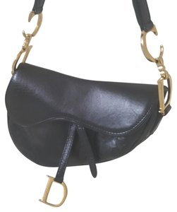 Dior Saddle Leather Shoulder Bag