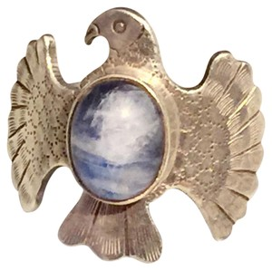 Other Native American Blue Quartz Eagle Shaped Sterling Silver 925 Ring