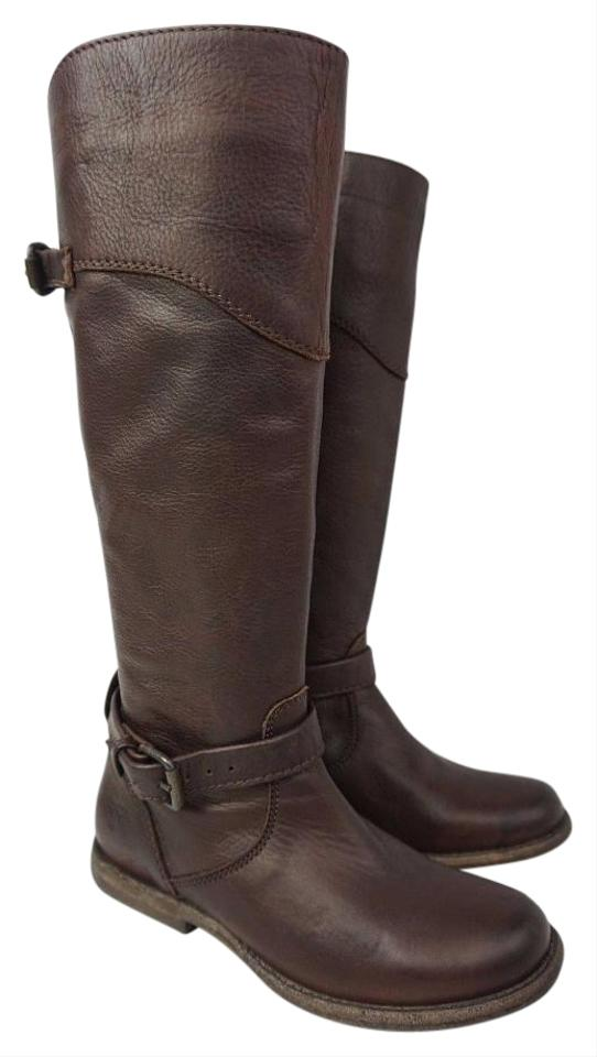 Frye Brown Women's Phillip Tall Boots/Booties Riding Leather Boots/Booties Tall f1159d