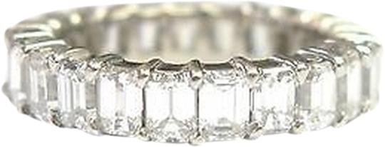 Other Fine,Emerald,Cut,Diamond,Shared,Prong,Eternity,Band,Ring,White,Gold,5.25ct,Sz6