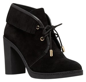 Tory Burch Chunky Suede Black Boots