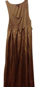 Taupe Maxi Dress by Gap Body Knit Top Silk Bottom With Tags. Beige /