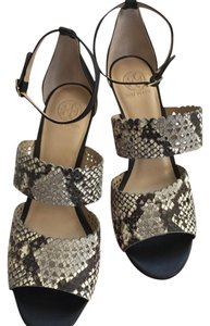 Tory Burch Platform Sandals Perforated Wedges