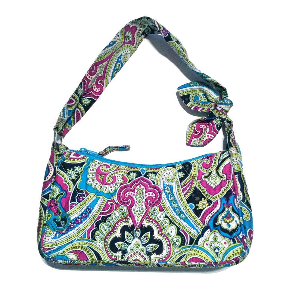 ed27f4b5e1d3 Vera Bradley Daphne Limited Edition Bella Paisley Retired Multi-color Silk  Shoulder Bag - Tradesy