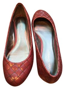 Via Spiga Ballet Quilted Leather Studs burgundy Flats