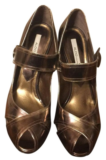 ALDO Bronze Pumps Size US 10 Regular (M, B) ALDO Bronze Pumps Size US 10 Regular (M, B) Image 1