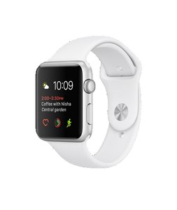 Apple Apple Watch Sport Silver Aluminum Case with White Sport Band
