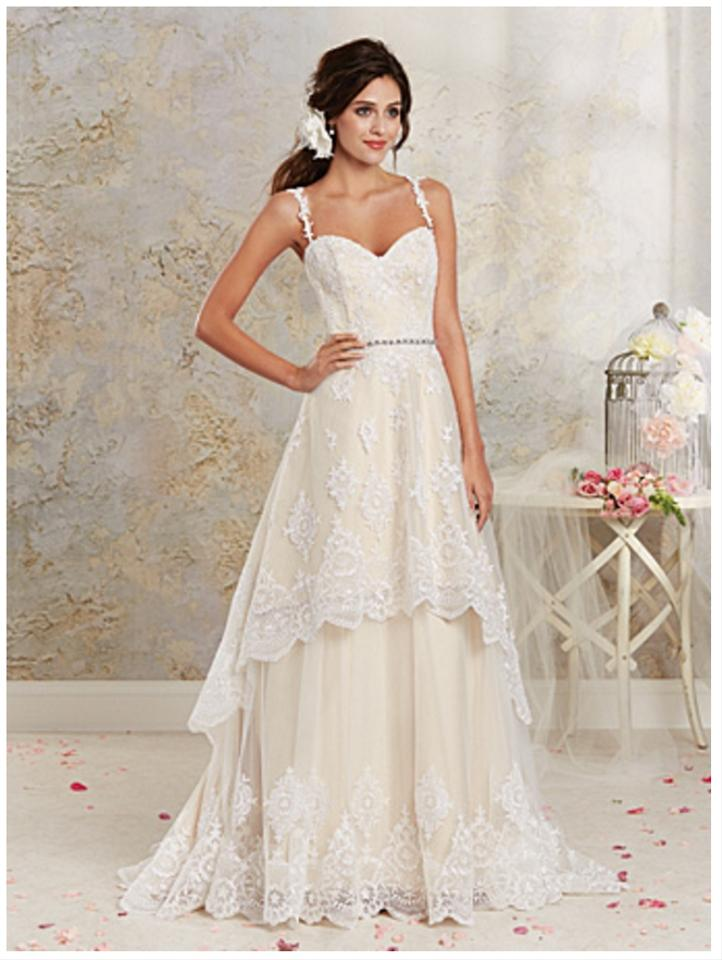 Alfred Angelo Champagne Lace with Satin Lining 8535 Vintage Wedding ...