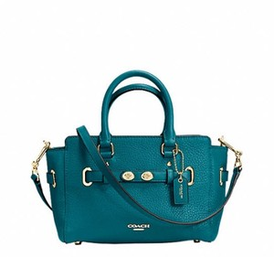 Coach Satchel in atlantic blue