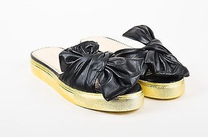 Charlotte Olympia Gold Black Flats