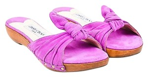Jimmy Choo Suede Knot Purple Sandals