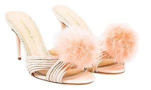 Charlotte Olympia Blush Silk Pink Sandals