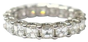 Other Fine,Asscher,Cut,Diamond,Eternity,Ring,3.75ct,Wg,Sz4.5