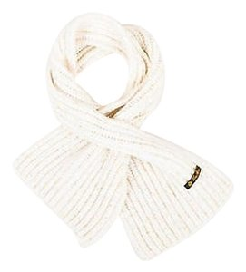 Loro Piana Loro Piana Cream Gold Cashmere Metallic Knit Ribbed Scarf