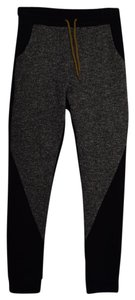 Lucky Leaves Joggers Comfy Pants Black and Grey Leggings