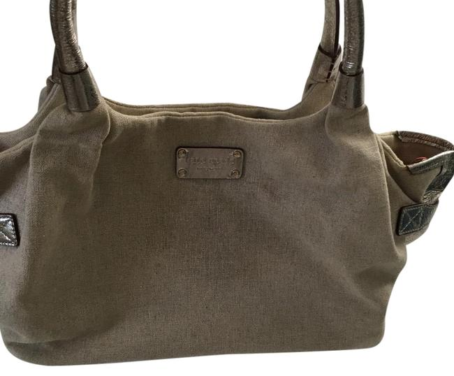 Item - Tan and Gold Canvas Tote