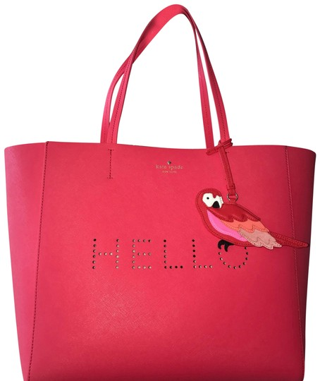 Preload https://img-static.tradesy.com/item/19796188/kate-spade-pinkred-leather-tote-0-3-540-540.jpg