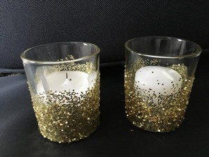 Gold Glitter Votives