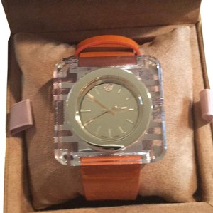 Tory Burch Izzie Square Leather Strap Watch 36mm