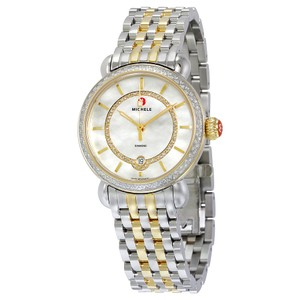 Michele Michele CSX Elegance Two Tone Stainless Diamond Watch MWW03T000042